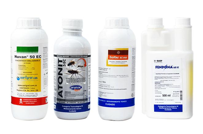 Insecticidas productos químicos